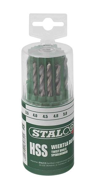 Wiertła SHSS do metalu 1.5-6.5mm 13el.  STALCO  PREMIUM - BR-Stalco Leżajsk