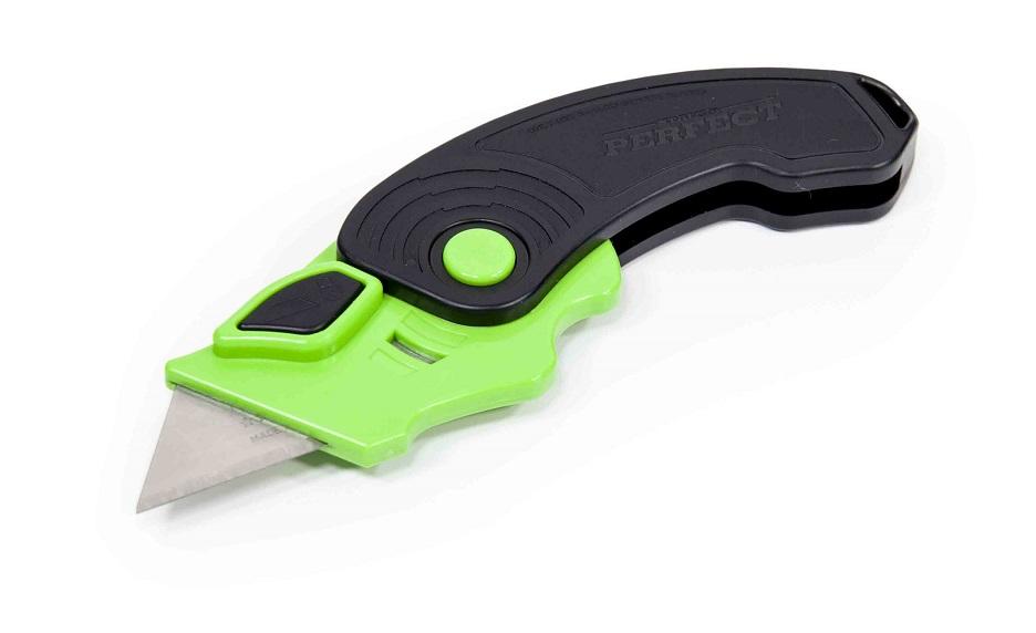 Nóż plastikowy z ostrzem trapezowym  STALCO  PERFECT - BR-Stalco Leżajsk