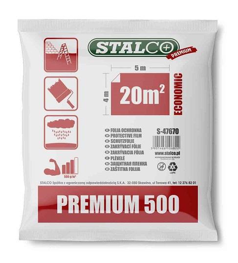 Folia malarska ekstra mocna 500g/m2  LDPE słomka  STALCO  PREMIUM - BR-Stalco Leżajsk