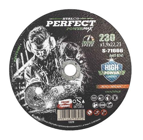 Tarcza do cięcia metalu – płaska  PERFECT POWERMAX - BR-Stalco Leżajsk