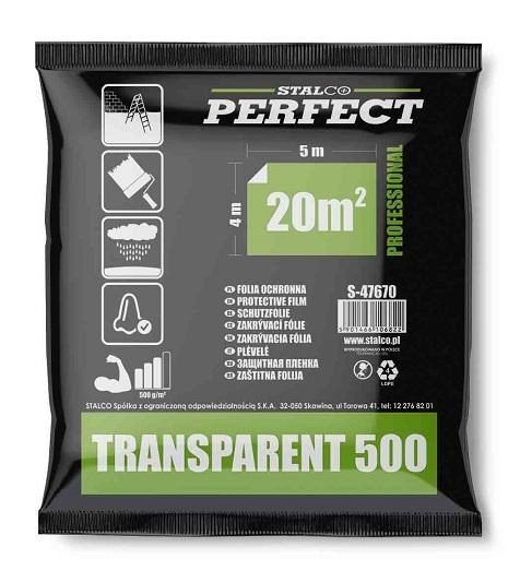 Folia malarska ekstra mocna 500g/m2LDPE transparent PERFECT - BR-Stalco Leżajsk