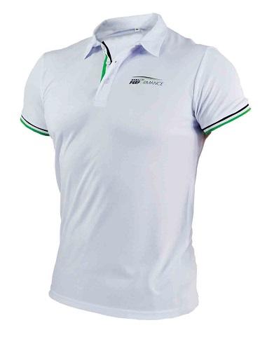 Polo sportowe męskie ONE M  białe     STALCO PERFORMANCE - BR-Stalco Leżajsk