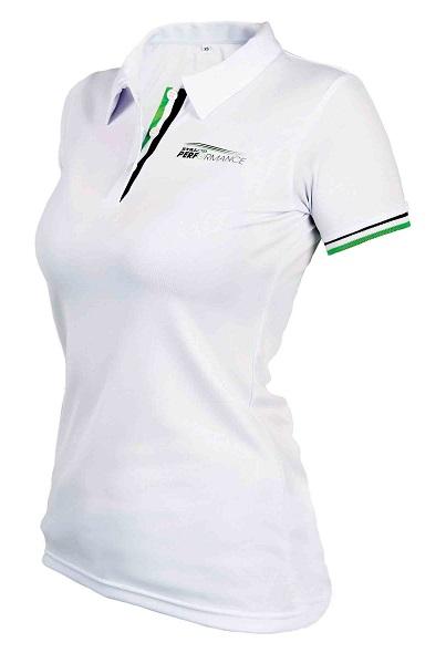 Polo sportowe damskie  ONE M  białe   STALCO PERFORMANCE - BR-Stalco Leżajsk