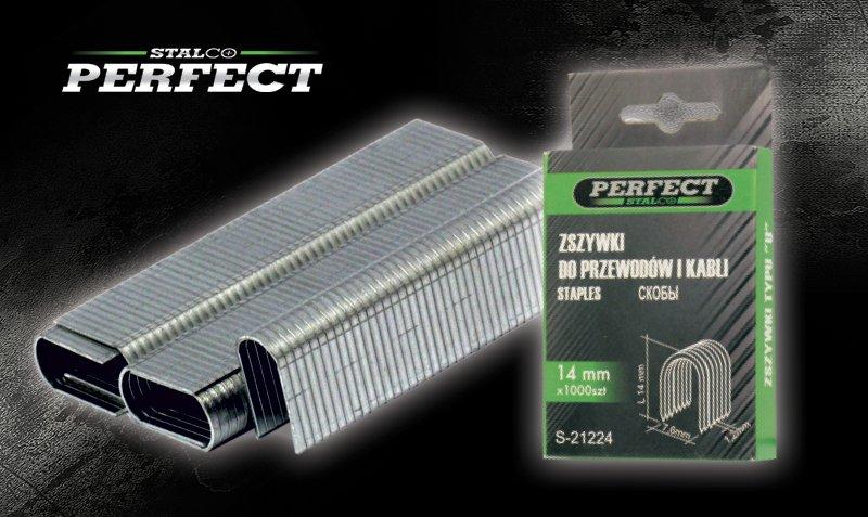 """Zszywki typ """"U""""   12-14 mm 1000  STALCO  PERFECT - BR-Stalco Leżajsk"""