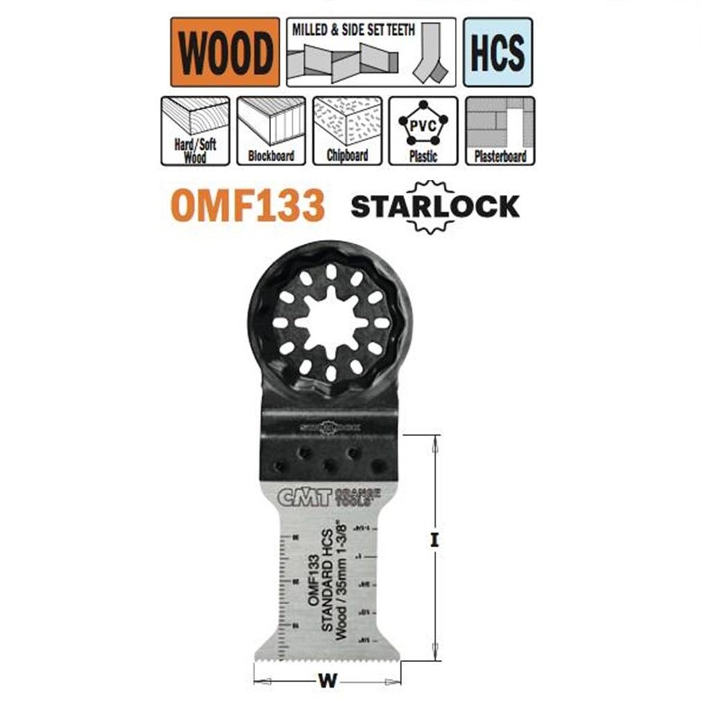 Brzeszczot 35 mm do ciecia wgłębnego w drewnie. CMT - BR-Stalco Leżajsk