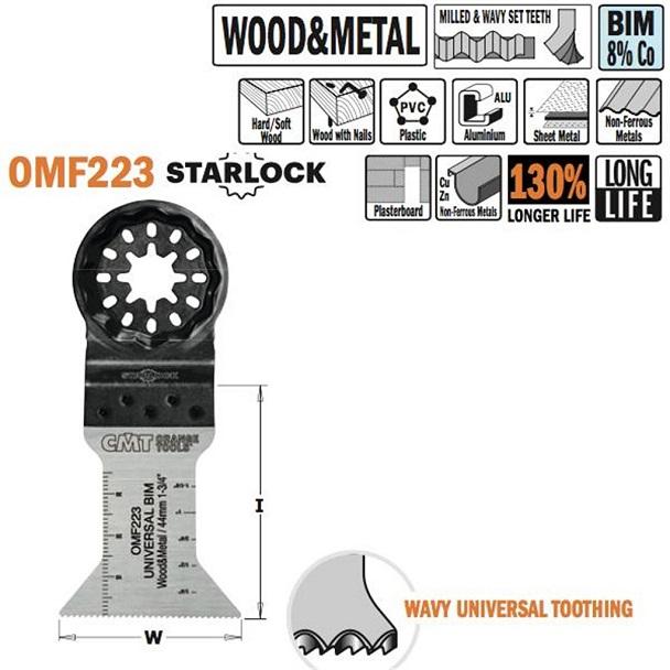 Brzeszczot 44 mm do ciecia wgłębnego w drewnie i metalu. - BR-Stalco Leżajsk