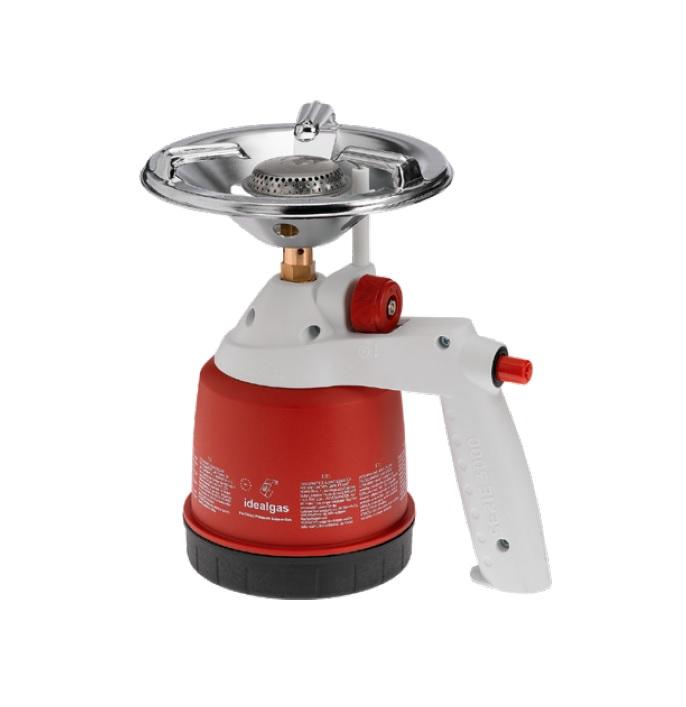 Kuchenka turystyczna z zapalarką 190g. (czerwona)     IDEALGAS - BR-Stalco Leżajsk